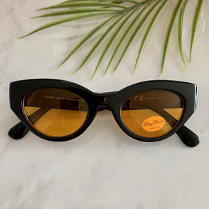 1950s Style Cat Eye Sunglasses | Black