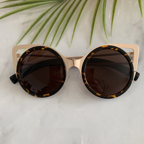 Large Round Cat Eye Sunglasses | Tortoiseshell