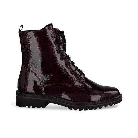 Lace Up Ankle Boot | 25209 | Bordeaux Patent