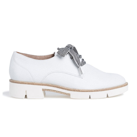 Chunky Leather Lace Up Shoe | 23703 | White