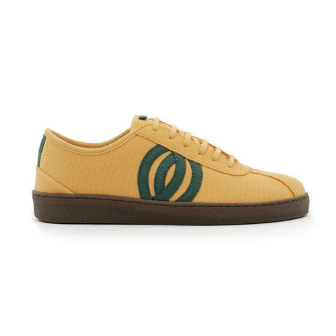 Diogenes | Vegan Recycled Cotton Trainer | Mustard