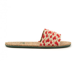 Lisa | Recycled Sandal | Red