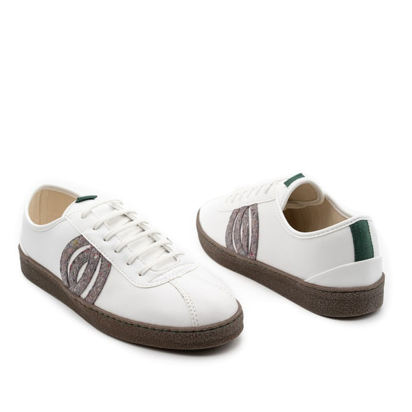 Diogenes | Vegan Corn and Recycled Cotton Trainer | White