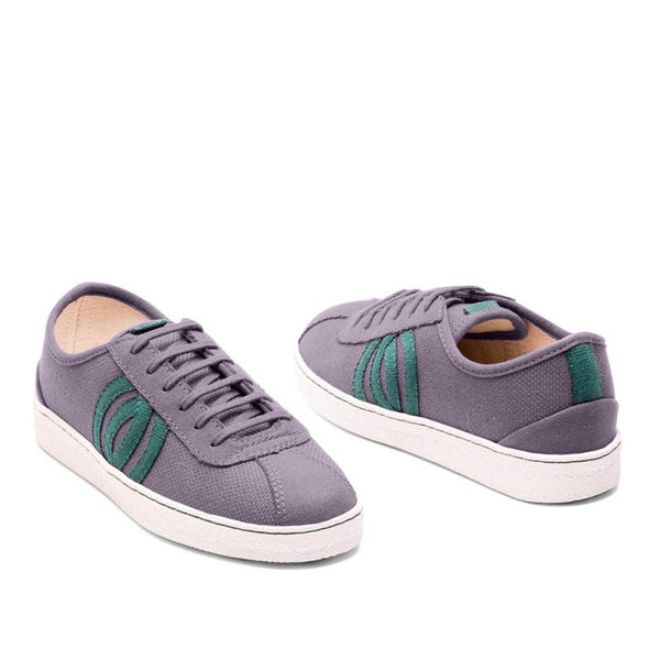 Diogenes | Vegan Recycled Cotton Trainer | Grey