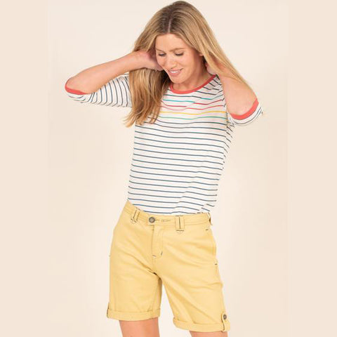 Turn Up Chino Shorts | Yellow