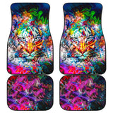 Amazing Wild Colorful Tiger Car Floor Mats 211302 - YourCarButBetter