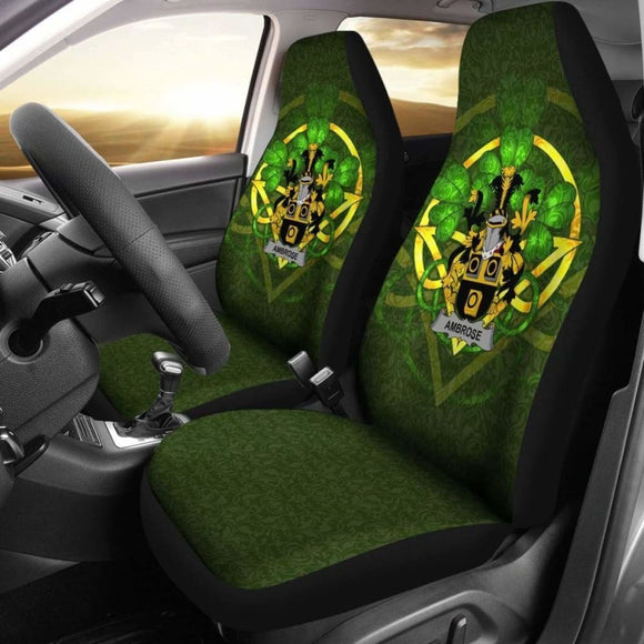 Ambrose Ireland Car Seat Cover Celtic Shamrock (Set Of Two) 154230 - YourCarButBetter