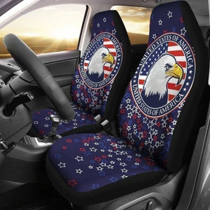 American Eagle Car Seat Covers Patriotic Car Decor 203011 - YourCarButBetter