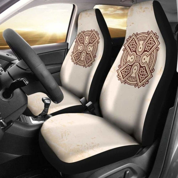 Ancient Celtic Cross Car Seat Cover 160905 - YourCarButBetter