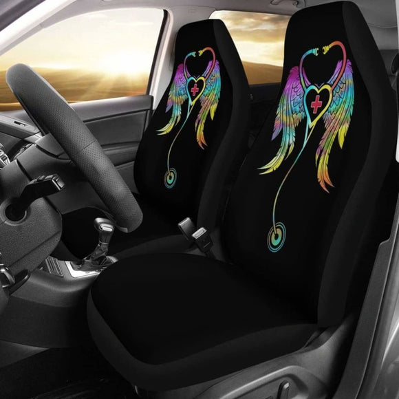 Art Nurse Symbol Love Car Seat Covers Amazing Gift Ideas 144902 - YourCarButBetter