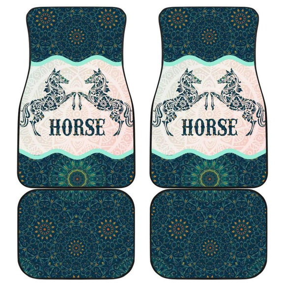Beautiful Horse Vintage Mandala Car Floor Mats 210303 - YourCarButBetter