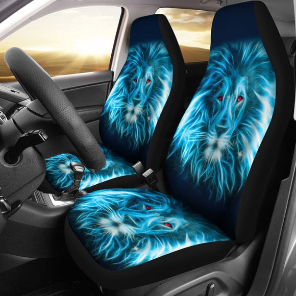 Blue Laser Lion Car Seat Covers 211102 - YourCarButBetter