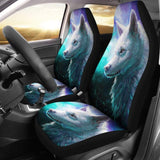 Blue White Wolf Car Seat Covers for Lovers 212602 - YourCarButBetter
