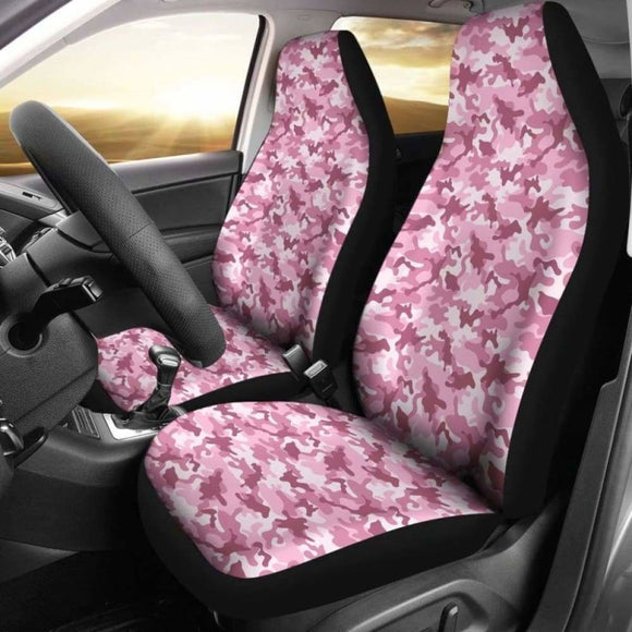 Blush Rose Pink And Mauve Camouflage Car Seat Covers 112608 - YourCarButBetter