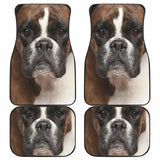 Boxer Dog Car Floor Mats Funny Dog Face 102918 - YourCarButBetter