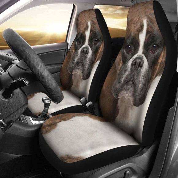 Boxer Dog Car Seat Covers Funny Dog Face 102918 - YourCarButBetter