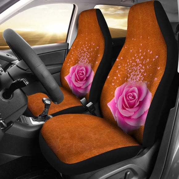 Butterfly Rose Car Seat Cover 210902 - YourCarButBetter