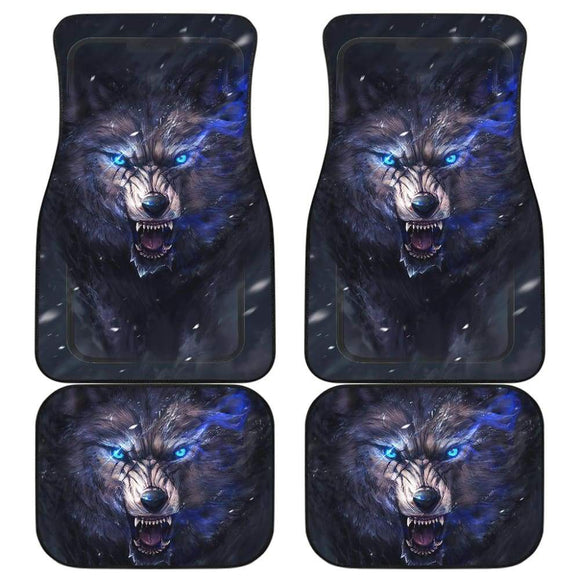 Car Floor Mats Wolf Sharp Eyes Ferocious 212502 - YourCarButBetter