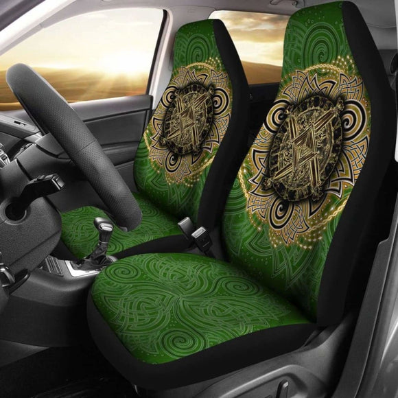 Celtic Car Seat Covers - Celtic Irish St Brigid'S Cross - Triple Spiral 160905 - YourCarButBetter