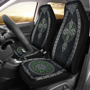 Celtic Cross And Shamrock Car Seat Covers (Set Of 2) 160905 - YourCarButBetter