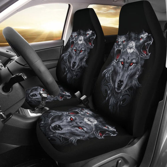 Cerberus God Wolf Car Seat Covers 211502 - YourCarButBetter