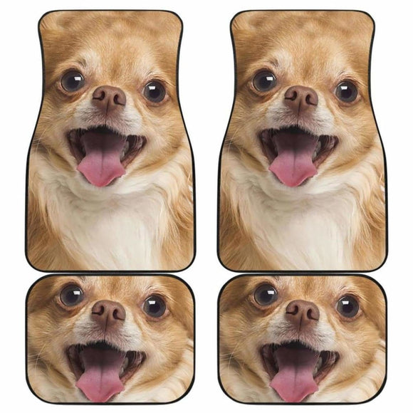 Chihuahua Car Floor Mats Funny Dog Face 091114 - YourCarButBetter
