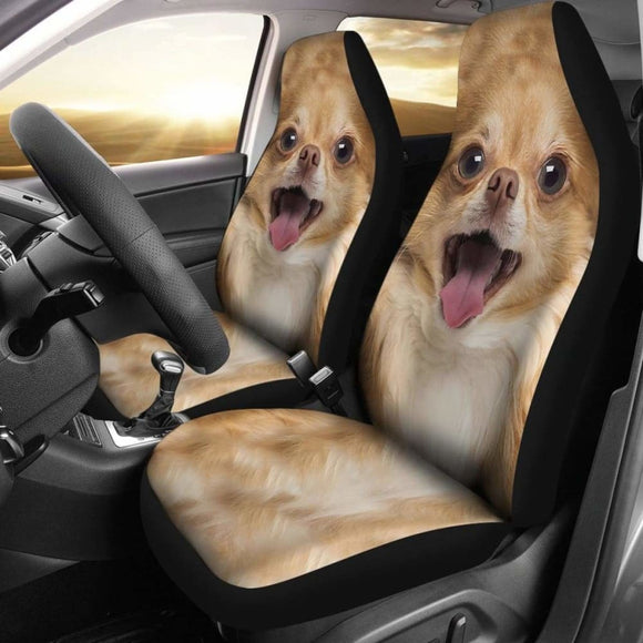 Chihuahua Dog Car Seat Covers Funny Dog Face 091114 - YourCarButBetter