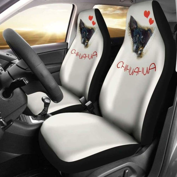 Chihuahua Dog Face Car Seat Cover 091114 - YourCarButBetter