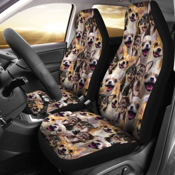 Chihuahua Full Face Car Seat Covers 091114 - YourCarButBetter
