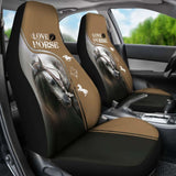 Chocolate Horse Love Car Seat Covers 170804 - YourCarButBetter