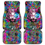 Colorful Male Nature Habitat Tiger Head Car Floor Mats 211102 - YourCarButBetter