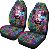 Colorful Male Nature Habitat Tiger Head Car Seat Covers 211102 - YourCarButBetter