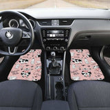 Cows Milk Product Pink Background Front And Back Car Mats 144730 - YourCarButBetter