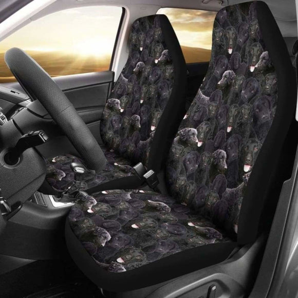 Curly Coated Retriever Full Face Car Seat Covers 115106 - YourCarButBetter