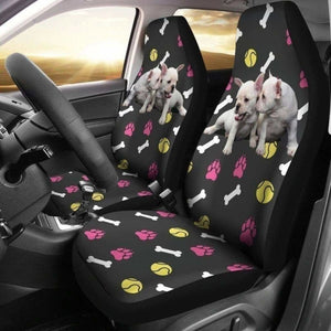 Cute Couple French Bulldog Car Seat Covers 194110 - YourCarButBetter