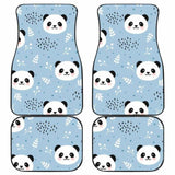 Cute Panda Pattern Front And Back Car Mats 091706 - YourCarButBetter