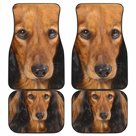 Dachshund Dog Car Floor Mats Funny Dog Face 092813 - YourCarButBetter