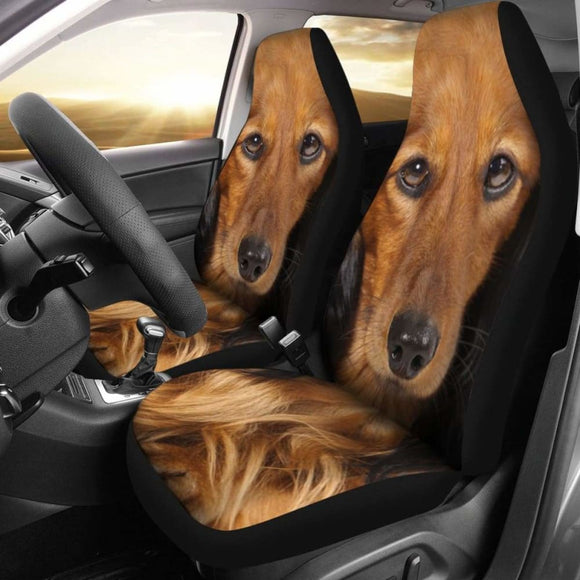 Dachshund Dog Car Seat Covers Funny Face 092813 - YourCarButBetter