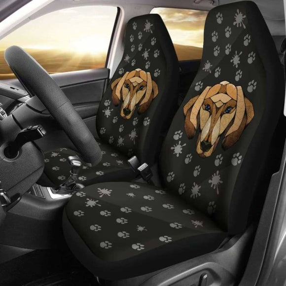 Dachshund Face Black Car Seat Covers 092813 - YourCarButBetter