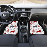 Deer Tree Snowflakes Chrismas Pattern Front And Back Car Mats 161012 - YourCarButBetter