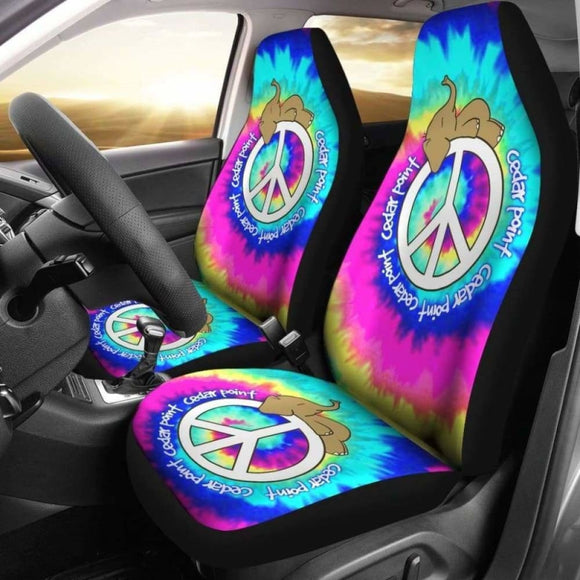Elephant Peace Tie Dye Car Seat Covers 202820 - YourCarButBetter