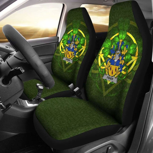 Fisher Ireland Car Seat Cover Celtic Shamrock (Set Of Two) 154230 - YourCarButBetter