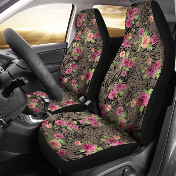 Floral Animal Print Car Seat Covers 153908 - YourCarButBetter