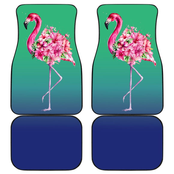 Floral Pink Flamingos Flowers Car Floor Mats 210502 - YourCarButBetter