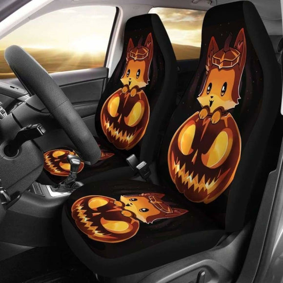 Fox Halloween Car Seat Covers 200217 - YourCarButBetter