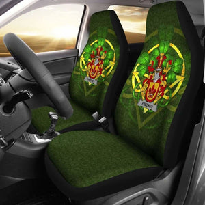 Freeney Ireland Car Seat Cover Celtic Shamrock (Set Of Two) 154230 - YourCarButBetter