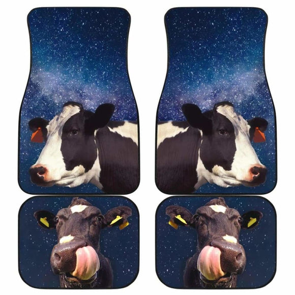 Front And Back Car Mats- Two Cows (Set Of 4) 144730 - YourCarButBetter