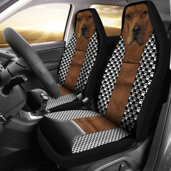 Funny Pitbull Car Seat Covers 113510 - YourCarButBetter
