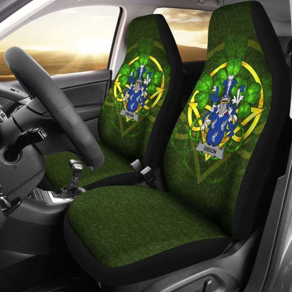 Gibson Ireland Car Seat Cover Celtic Shamrock (Set Of Two) 154230 - YourCarButBetter