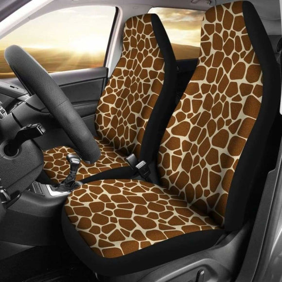 Giraffe Car Seat Covers Animal Print 102802 - YourCarButBetter